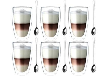 Pohár Tepelnej Káva Latte čaj lyžice 6 Ks