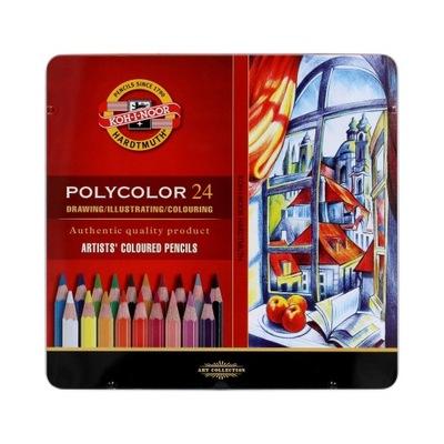 Pastelky, ceruzky na ceruzky 24kol Polycolor Koh-I-Noor 3824