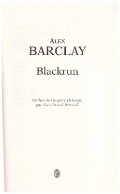 Blackrun Alex Barclay po francusku francais