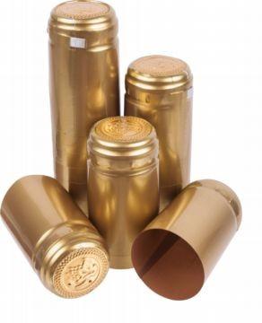 Колпачки термоусадочные золотые 10шт