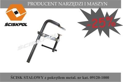Zverák, svorka - Oceľová svorka s kovovým krytom 1000/120, ŚCISKPOL