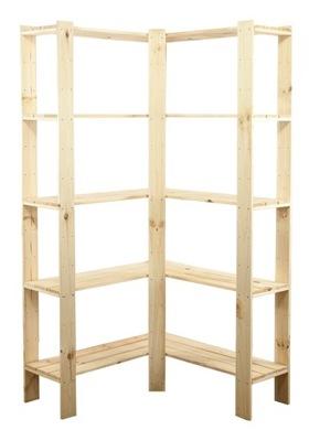 Стеллаж Макси -4+ шкаф деревянная для кладовой, кухни