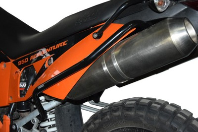 Zadné svetlo bar DBAŤ na KTM 950 a 990 ADVENTURE Black