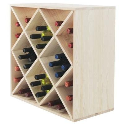 Stojan na víno drevený stojan, polica RW-6-5 prísne