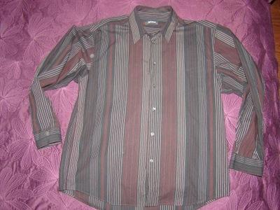 # LERROS    koszula   CZARNA  prązki  R.XL #