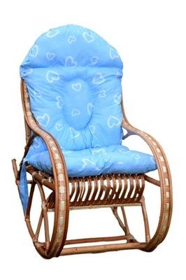 Fotel bujany dla dziecka BUJAK WIKLINOWY+ poduszka