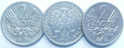Moneta 2 zł złote Jagody 1960 r ładne
