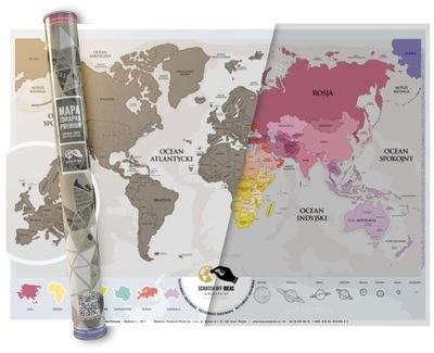 Карта Скретч-карта премиум , подарок путешественника