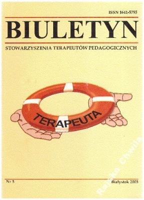 Terapeuta Biuletyn Stowarzyszenia Terapeutów Pedag