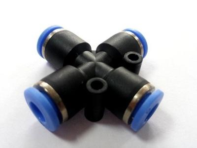 Czwórnik Złączka wtykowa 4mm pneumatyczna AUTO