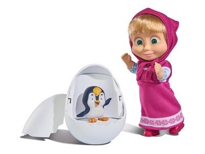 SIMBA Masza i Niedźwiedź Lalka z pingwinkiem Jajko