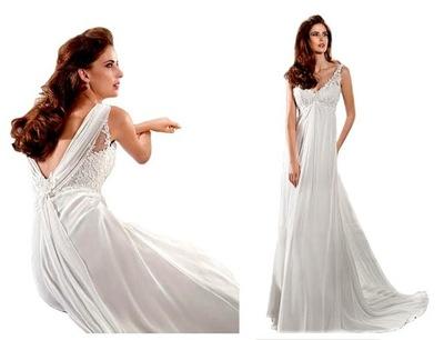 Suknia ślubna Ciążowa S 7516400233 Allegropl