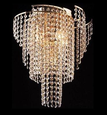 Stylowy Plafon Kryształowy 5pł Złoty Gold Salonu