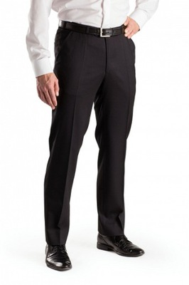 49fde7f4b510c2 Szczygieł - spodnie z gabardyny 44% wełna 102/176 7606987623 ...