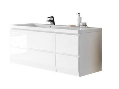 Umývadlo Skriňa s umývadlom 125 cm LEWA BIAŁA Brylant ORISTO