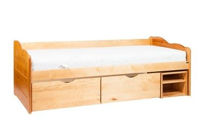 Łóżko sosnowe Brygida 90x200 + gęsty stelaż