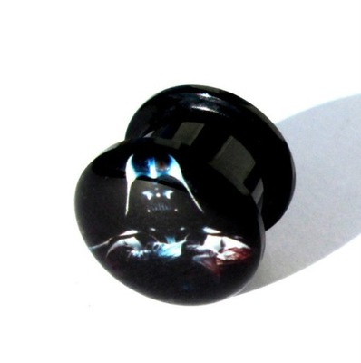 Tunel plug odkręcany - 12mm STAR WARS DARTH VADER