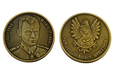 Żołnierze Wyklęci ВИТОЛЬД ПИЛЕЦКИЙ numizmat монета