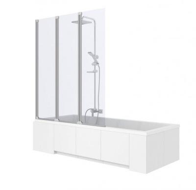 Sprchové dvere - REA AGAT 3-elementový vaňový displej. 120 cm sklo