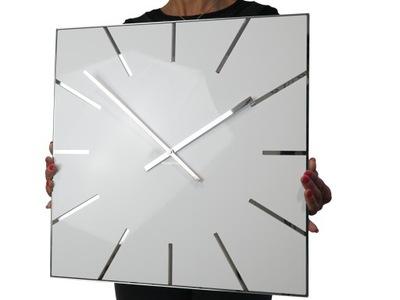 Большой современный часы настенный EXACT 50см блеск