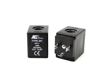 Cievka elektromagnetický Ventil 24V DC 10 Watt Fi 13.2 mm