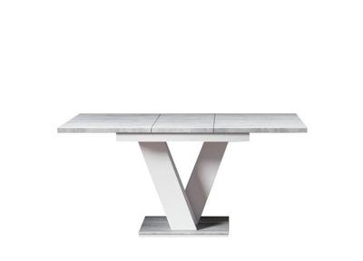 стол раскладной 120-160 Белый / бетон 7 дней +