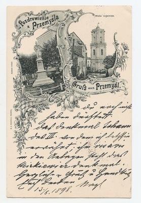 ПШЕМЫСЛЬ-GRUSS AUS -литография -1898