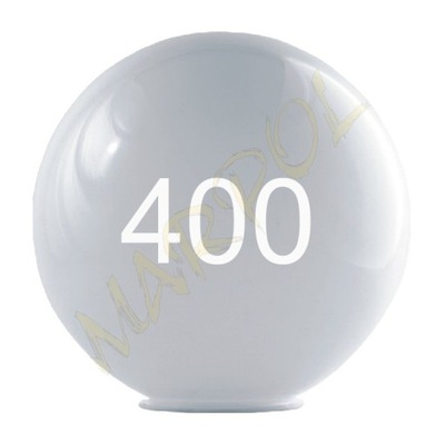 Svietidlo - tienidlo - MARPOL KLOSZE KULA BIAŁA 400 k-180 PMMA
