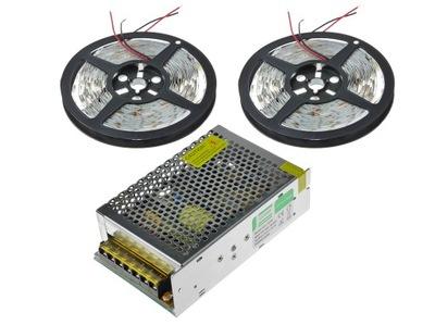 Osvetlenie nábytku LED pás - Wodoodporny zestaw LED 10m Taśma 5630 neutralny