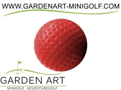 Piłeczka minigolfowa czerwona piłka do mini golfa