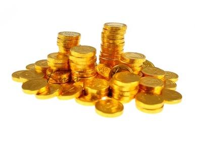 Монеты шоколадные МОНЕТЫ золотые 170г 100шт Holland