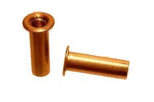 Trubkové nity Fi 3x28 mm, extrudovaná mosadz 100 ks