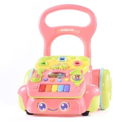Interaktívna hračka - WALKER, TLAČNÉ S VZDELÁVACÍCH PIANINKIEM STABILNÉ