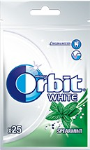 ОРБИТ резинка WHITE SPEARMINT СУМОЧКА 22 штук