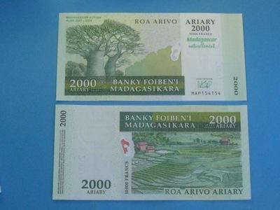 Мадагаскар Банкнот Две тысячи Ариари UNC 2007 / 12 P-93