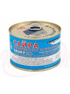 SAJRA С ТИХОГО ОКЕАНА консервов В СОБСТВЕННОМ СОКУ Россия