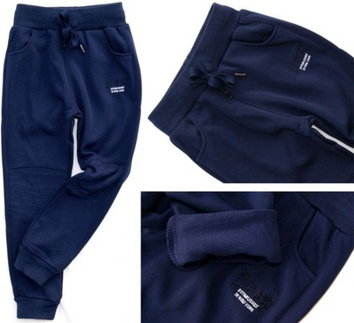 d79cfd75c NOWE* Spodnie dresowe _ Z NASZYWKAMI _ rozm.92 - 7449410706 ...