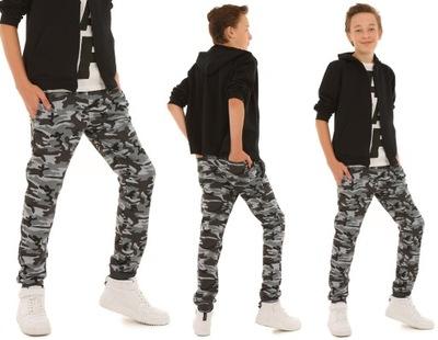 OCIEPLANE spodnie dresowe dla chłopca MORO - 158