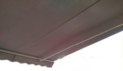 маркиза терраса SanSeo Eco 250x200 серая гладкая