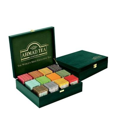 деревянная коробка 120 чаев Эксклюзив микс Ахмад