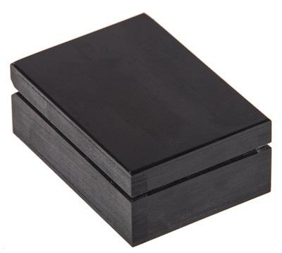 Úložný box - CZARNE pudełko SZKATUŁKA 11x8cm PREZENT flok EKO