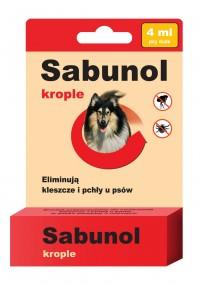 Сабунола капли блох/клещей 4 мл - собаки 20 -40 кг