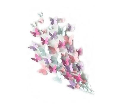 бабочки бабочки на стену 3D 50 штук +Монтаж