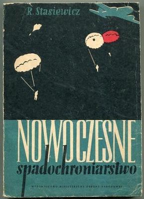 NOWOCZESNE SPADOCHRONIARSTWO - książka z 1955 roku