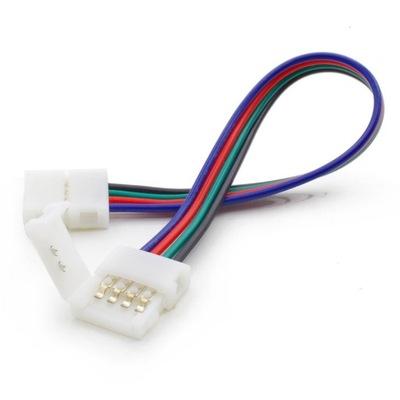 ZŁĄCZE łącznik 10mm taśma LED 5050 RGB dwustronna