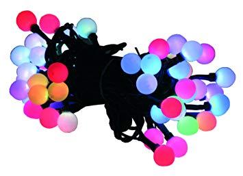 50x LED Цепь 4 ,9м белое шары цветные LED