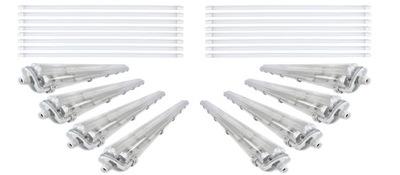 8 Lampa zapečatené IP65 žiarivka LED