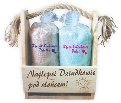 darček pre babička dedo dedo 2 uteráky výšivky