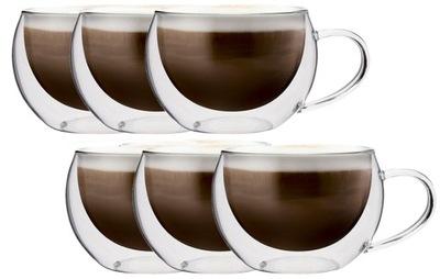 Okuliare teplo-Odolný Káva, Cappuccino, Čaj, 6 kusov