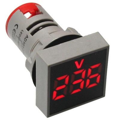 LED kontrolka, červená 230V 500V napätie meter